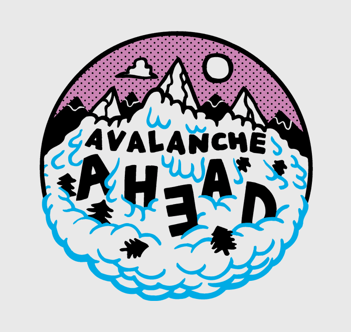 Avalanche Surfing Unicorn