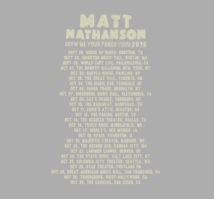 Matt Nathanson Tour