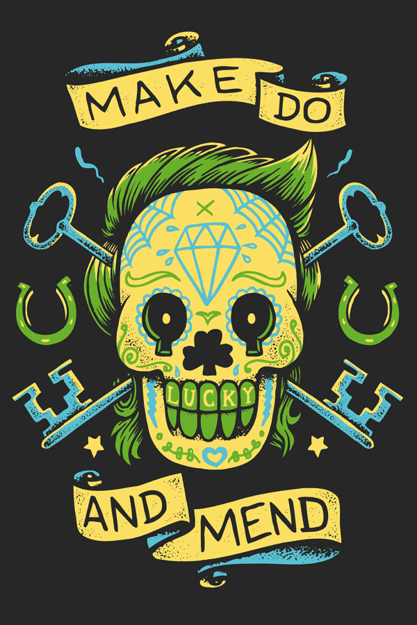 MAKE DO AND MEND – SUGAR SKULL